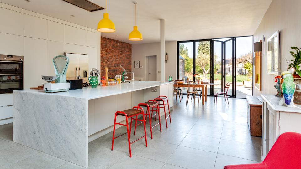 Mike and Sasha Martin extended their Victorian property to create a large and modern family space