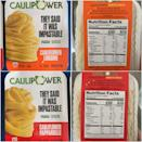 <p>Made with cauliflower, corn flour, potato starch, rice flour, and lentil flour, the ingredients in the pasta are pretty clean. I noticed right off the bat that both the linguine and pappardelle were marginally higher in fat, sodium, and carbs than my favorite brown rice pasta, but they're also higher in dietary fiber and iron.</p> <p>After a careful inspection of the packaging and nutrition facts, I decided to give it a shot and cooked the pasta up two ways: once as shrimp scampi and once as a Thai-inspired chicken and edamame dish with purple cabbage.</p>