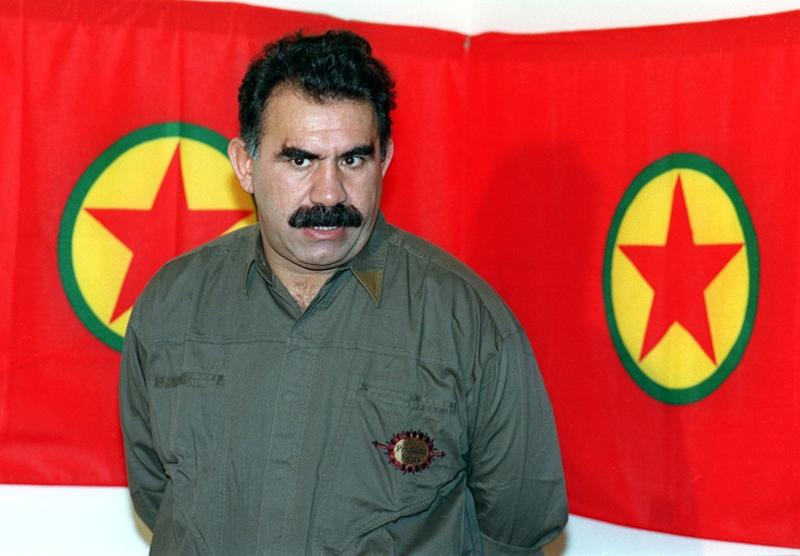 Kurdish rebel chief Abdullah Ocalan, pictured in 1993 and serving a life sentence since 1999, was allowed to see his lawyers this month for the first time in eight years (AFP Photo/Joseph BARRAK)