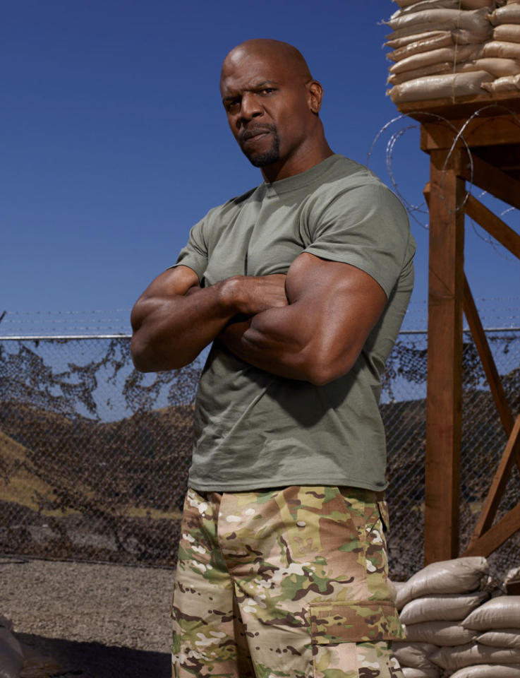 "Actor and former National Football League player Terry Crews (""The Expendables 2,"" ""The Newsroom"") competes on NBC's ""Stars Earn Stripes."""