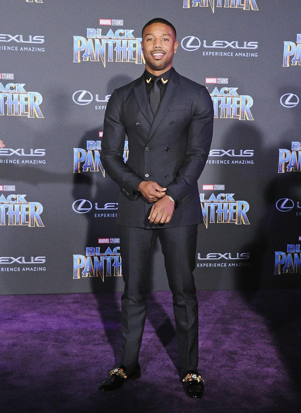 <p>His suit was by Calvin Klein.</p>