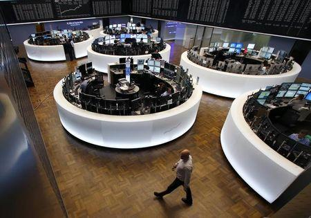 A general view of the Frankfurt stock exchange