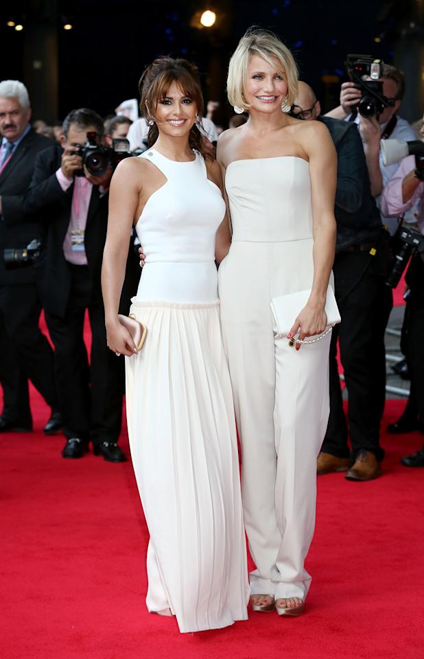 LONDON, ENGLAND - MAY 22:  Cheryl Cole and Cameron Diaz attend the UK film premiere of 'What To Expect When You're Expecting' at BFI IMAX on May 22, 2012 in London, England.  (Photo by Tim Whitby/Getty Images)