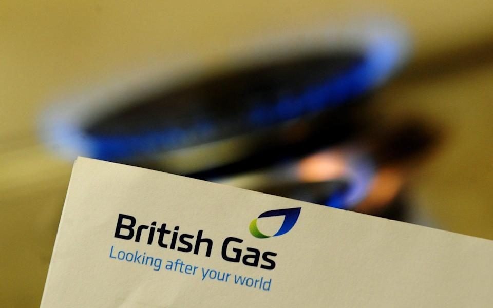 a British Gas logo, as British Gas owner Centrica has hit out at a Government proposal to cap energy prices - PA