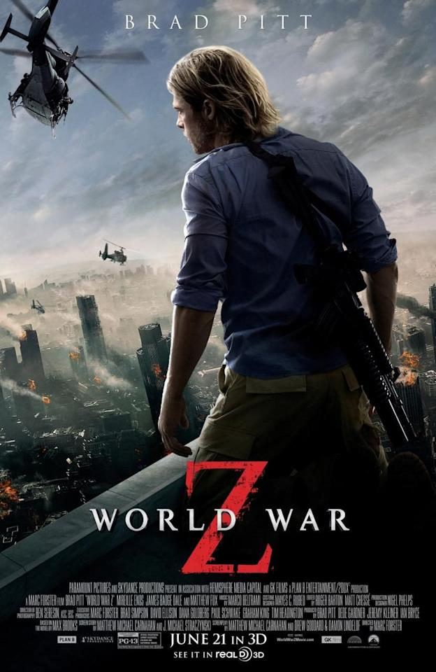 """<p>In this thrilling and intense apocalyptic <a href=""""https://www.goodhousekeeping.com/life/entertainment/g32021268/best-action-movies-netflix/"""" target=""""_blank"""">action film</a>, Brad Pitt stars as a former U.N. investigator who leads a worldwide search to stop the rapid spread of a lethal zombie infection. There's gripping action, scary zombies <em>and</em> Brad Pitt as the hero — need <em></em>we say more?</p><p><a class=""""body-btn-link"""" href=""""https://www.amazon.com/World-War-Z-Brad-Pitt/dp/B00EL8I8IS?tag=syn-yahoo-20&ascsubtag=%5Bartid%7C10055.g.33546030%5Bsrc%7Cyahoo-us"""" target=""""_blank"""">WATCH ON AMAZON</a></p><p><strong>RELATED: </strong><a href=""""https://www.goodhousekeeping.com/life/entertainment/g29442307/best-end-of-the-world-movies/"""" target=""""_blank"""">20 Best End-Of-The-World Movies for When You're Feeling a Wild Ride</a></p>"""