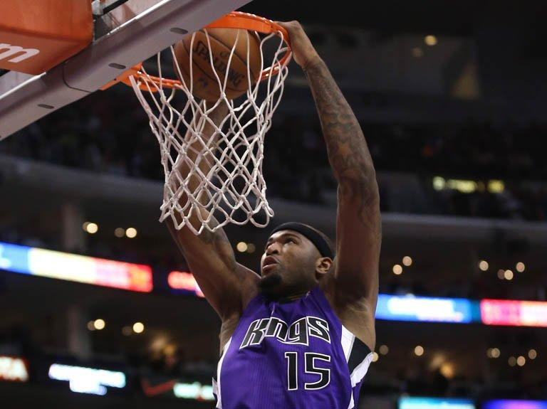 DeMarcus Cousins of the Sacramento Kings dunks in Los Angeles on December 21, 2012