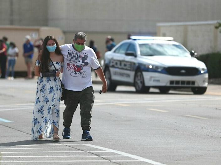 Bystanders and shoppers evacuated Fayette Mall after a shooting inside killed one and injured others.