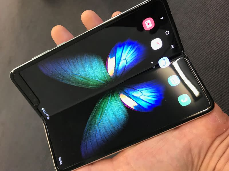 Samsung first foldable smartphone, the Galaxy Fold is seen at the IFA consumer tech fair in Berlin
