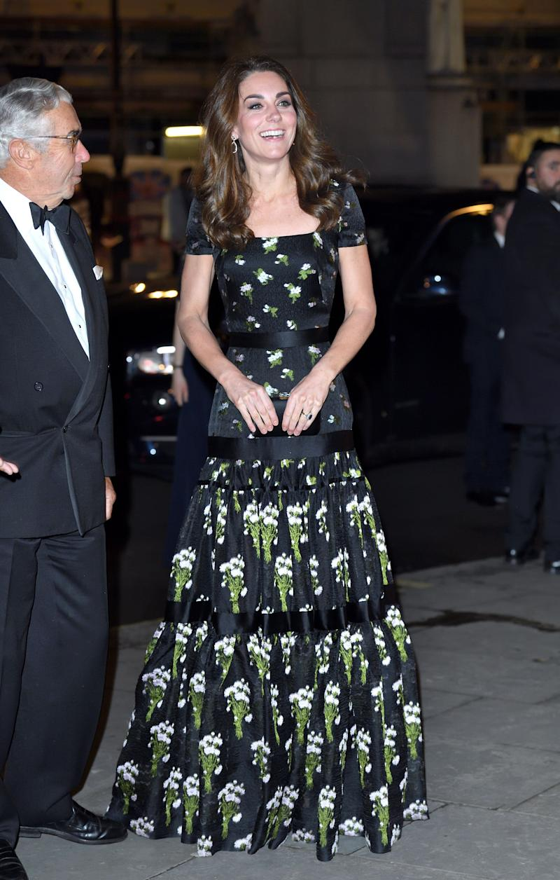 She wore a gorgeous Alexander McQueen dress with a reworked bodice for a gala at the National Portrait Gallery.