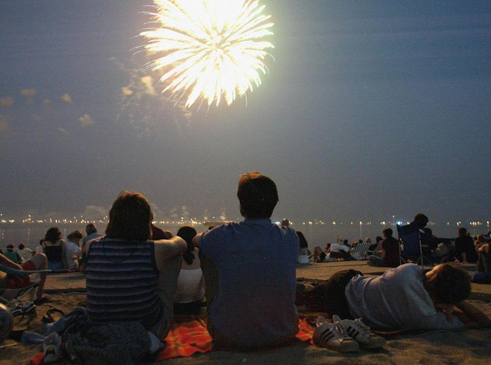 """<p><strong>Fairfield, C<strong>onnecticut</strong></strong></p><p>Catch some rays and watch the 4th of July fireworks at <a href=""""https://www.fairfieldct.org/fireworks"""" rel=""""nofollow noopener"""" target=""""_blank"""" data-ylk=""""slk:Jennings Beach"""" class=""""link rapid-noclick-resp"""">Jennings Beach</a> in Fairfield, CT this summer.</p>"""