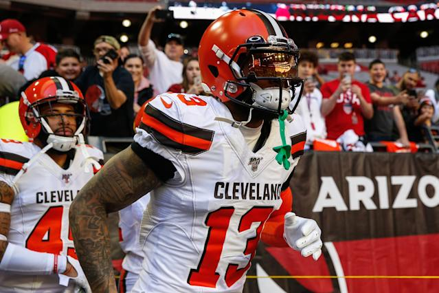 Cleveland Browns receiver Odell Beckham said Wednesday he doesn't want to leave the team. (Kevin Abele/Icon Sportswire via Getty Images)