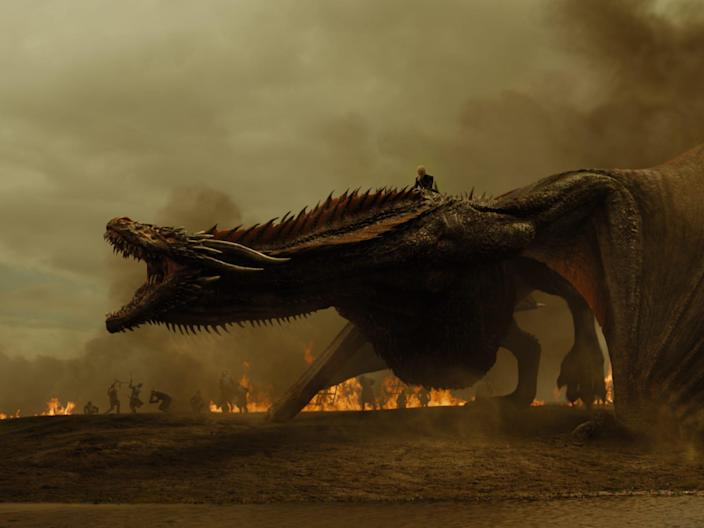 drogon daenerys spoils of war game of thrones