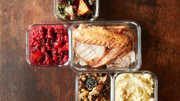PHOTO: Stock photo of traditional Thanksgiving menu items in containers. (STOCK PHOTO/Getty Images)