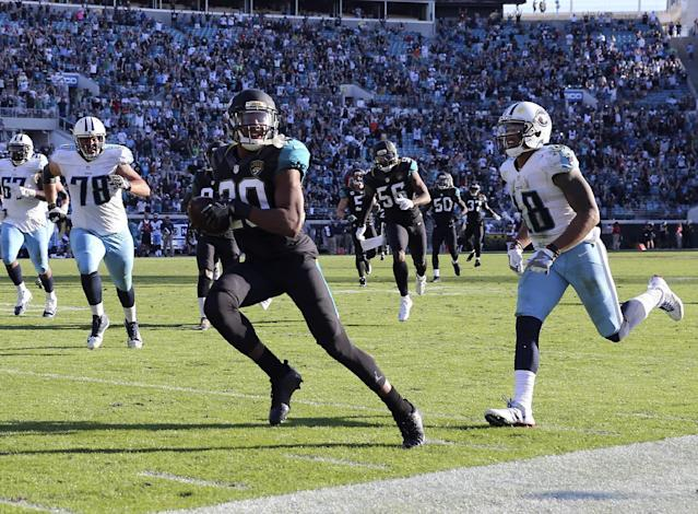 Jalen Ramsey (20) suffered a hand injury in practice on Friday. (AP)
