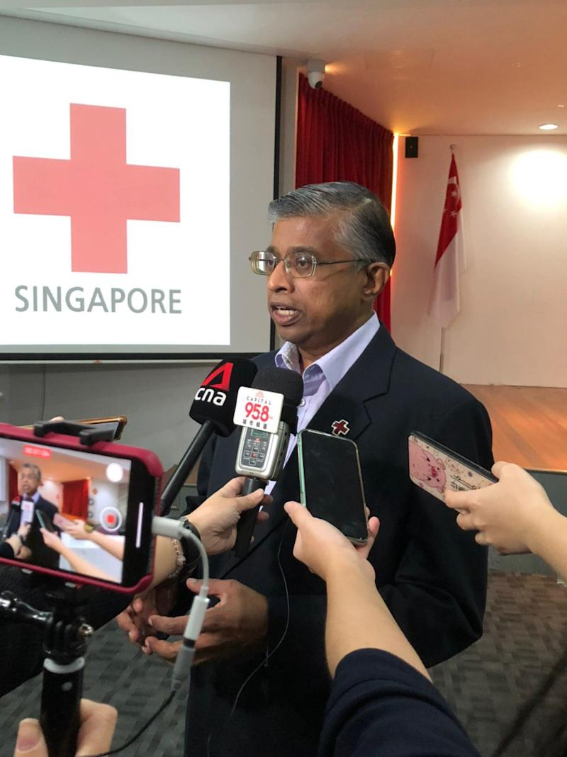 Singapore Red Cross secretary general Benjamin William addresses reporters at Red Cross House on Wednesday, 19 February 2020. PHOTO: Nicholas Yong/Yahoo News Singapore