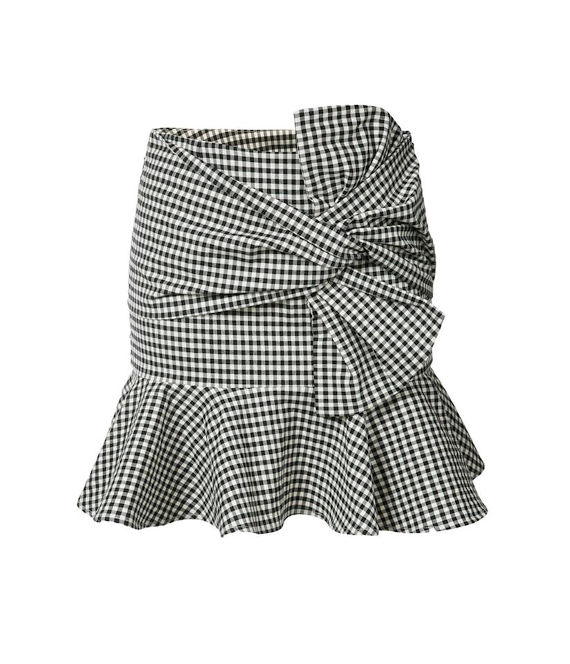 "<p>Gingham ruffle mini-skirt, $395,<a rel=""nofollow"" href=""https://www.farfetch.com/shopping/women/veronica-beard-gingham-ruffle-miniskirt-item-12066905.aspx?fsb=1&storeid=9531&size=18&utm_source=polyvore.com&utm_medium=affiliate&utm_campaign=RNPUS_desktop""> farfetch.com</a> </p>"