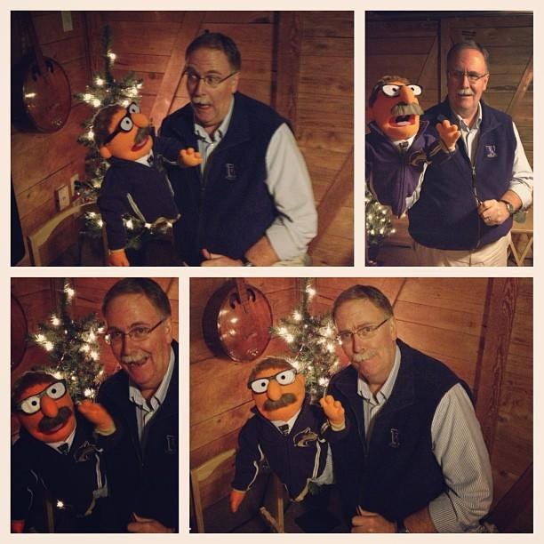 """<p>""""My friend had a Muppet made in the likeness of her father and gave it to him for Christmas."""" [Photo: Reddit/devondennis] </p>"""