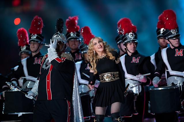2012: Madonna. (Photo by Rob Tringali/SportsChrome/Getty Images)