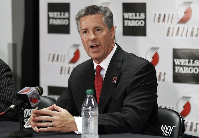 The Blazers hired Neil Olshey in 2012. (AP)
