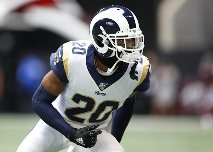 "The Rams traded two first-round draft picks to acquire Jalen Ramsey. To keep him past this season, they will need to address a new contract for the cornerback. <span class=""copyright"">(Todd Kirkland / Getty Images)</span>"