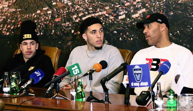 LaVar Ball has a plan to get LiAngelo drafted by the Lakers, but will it work? (Getty Images)