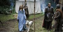 <p>As Sansa begins her journey away from her home in the North, her style becomes more Southern, but her color palette doesn't. This is a girl who is true to her roots, no matter how eager she thinks she is to move on. </p>