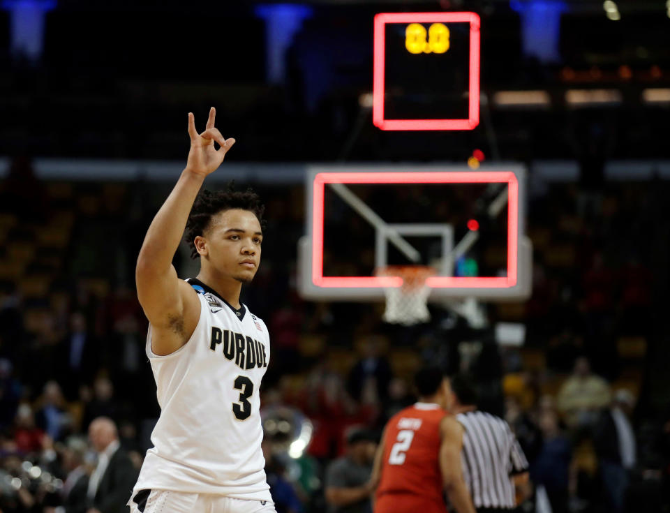 Carsen Edwards should be a preseason All-American candidate after announcing Tuesday night that he'll return to Purdue. (AP)