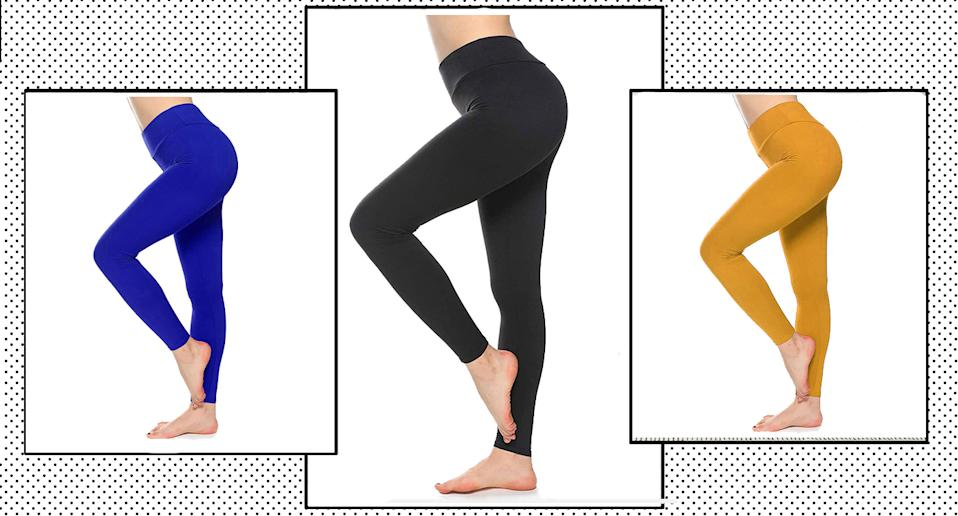 Amazon's yoga leggings have received over 10,000 glowing reviews from shoppers.  (Amazon/Yahoo Style UK)