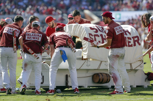 Oklahoma's Sooner Schooner won't run again this season after crash