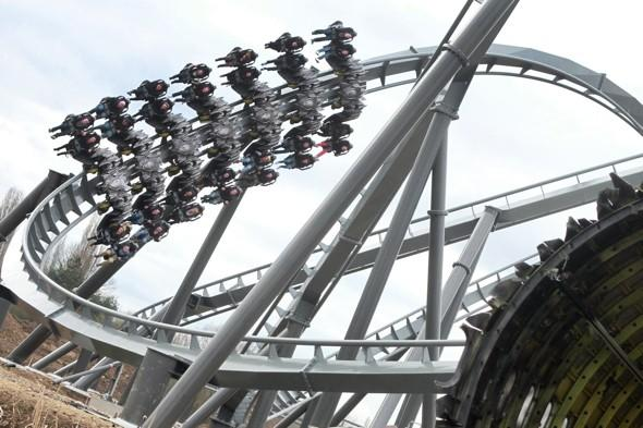 Thorpe Park's new ride The Swarm terrifies Red Arrows pilot
