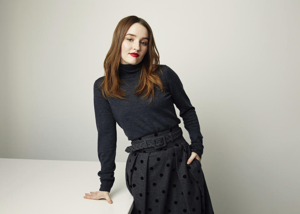"This Nov. 6, 2019 photo shows Kaitlyn Dever posing for a portrait in New York. Dever, the star of the Netflix series ""Unbelievable,"" and the film ""Booksmart,"" was named one of the breakthrough artists of the year by the Associated Press. (Photo by Taylor Jewell/Invision/AP)"
