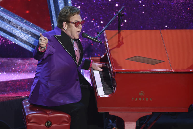 Elton John has also dismissed the idea of leaving children a huge inheritance. (Photo: AP Photo/Chris Pizzello)