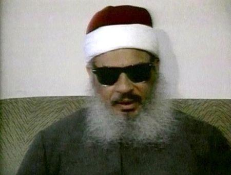 FILE PHOTO - Egyptian Omar Abdel-Rahman speaking during a news conference