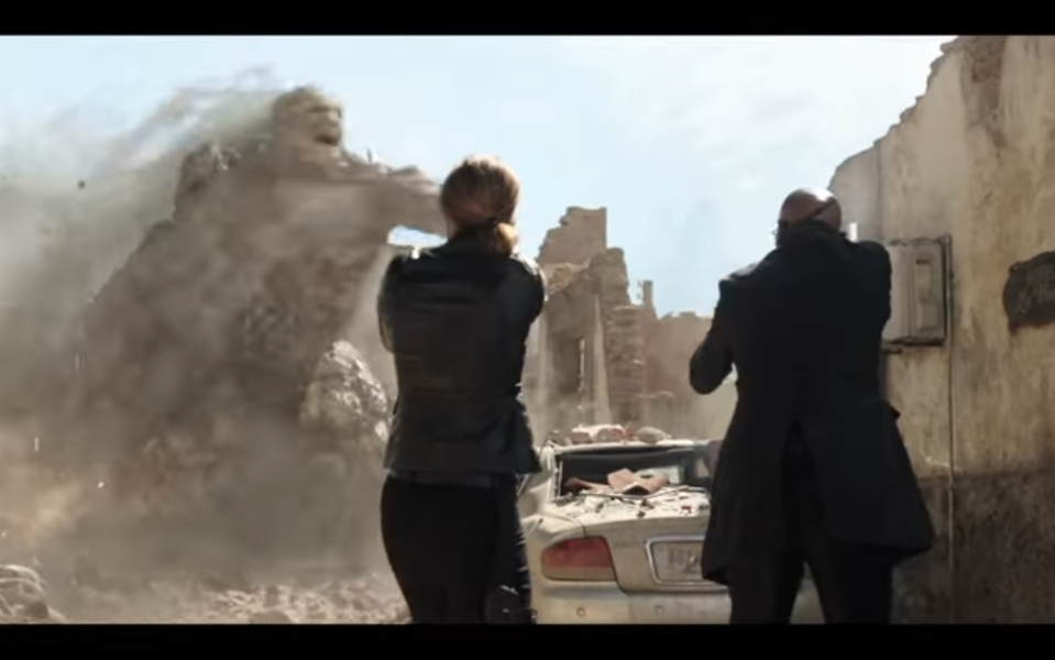 Sandman is one of the three elementals that Spider-Man faces in <em>Far From Home</em>. (Photo: Sony/YouTube)