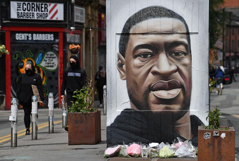 £1,000 Bounty To Find Racist Who Defaced George Floyd Mural In Manchester