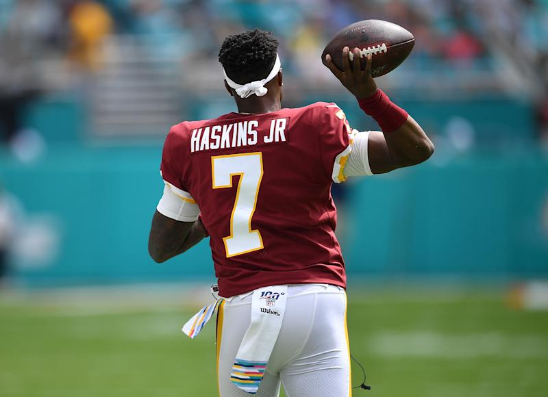 Dwayne Haskins didn't appear to be the handpicked choice of his former Redskins head coach. (Getty Images)