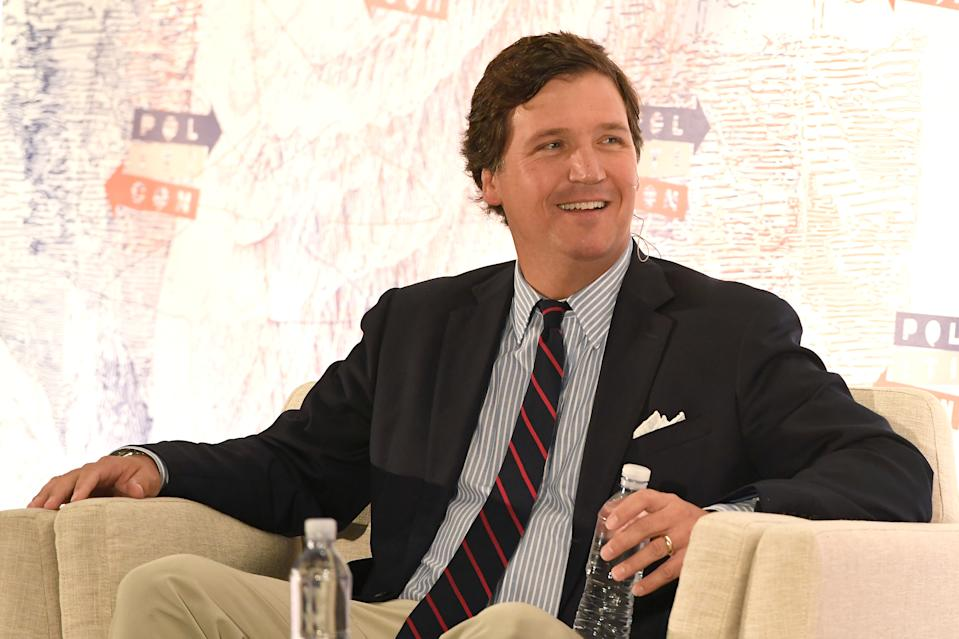 Fox News host Tucker Carlson called Kanye West, who is running for president in 2020,
