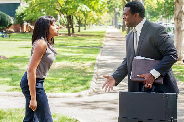 Henson and Lyriq Bent in <em>Tyler Perry's Acrimony</em>. (Photo: Lionsgate /Courtesy Everett Collection)