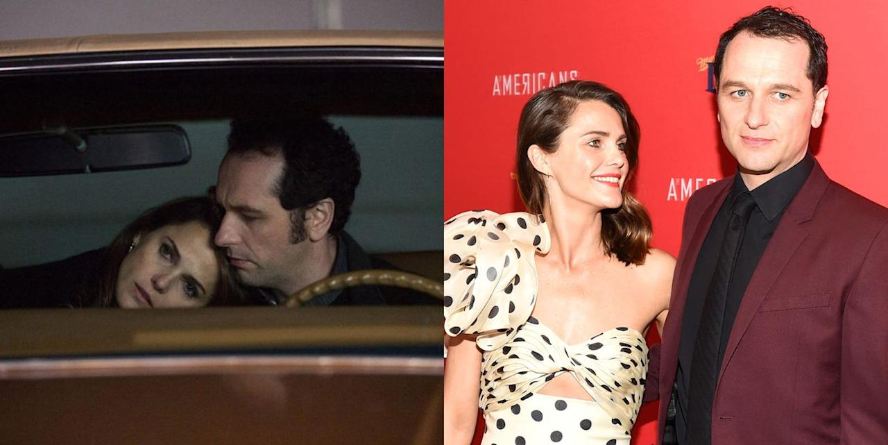 <p><strong>The show:</strong> <em>The Americans</em> (2013-2018)</p><p>On the FX series, the duo played Russian spies in an orchestrated marriage and a complicated relationship. In real life, the couple is very much in love and revealed their relationship to the public in 2014. They had their first child together in 2016.</p>