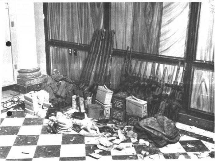 Weapons, communications equipment and supplies seized from members of the United Western Front (FUO) during <em>Operación ratonera</em> (Operation Mousehole) in 1964. (Photo: Archive of Cuba's Historical Research Center of State Security, via granma.cu)