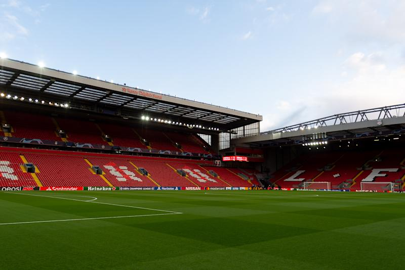 Could matches at Anfield and the rest of the Premier League be only two months away? It depends on how much the coronavirus keeps spreading. (Photo by Max Maiwald/DeFodi Images via Getty Images)