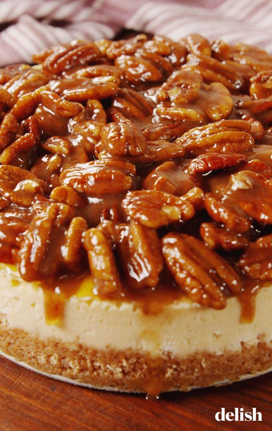 "<p>Fact: Cheesecake is better slathered in pecan pie filling. </p><p>Get the recipe from <a href=""https://www.delish.com/cooking/recipe-ideas/a56639/pecan-pie-cheesecake-recipe/"" rel=""nofollow noopener"" target=""_blank"" data-ylk=""slk:Delish"" class=""link rapid-noclick-resp"">Delish</a>.</p>"