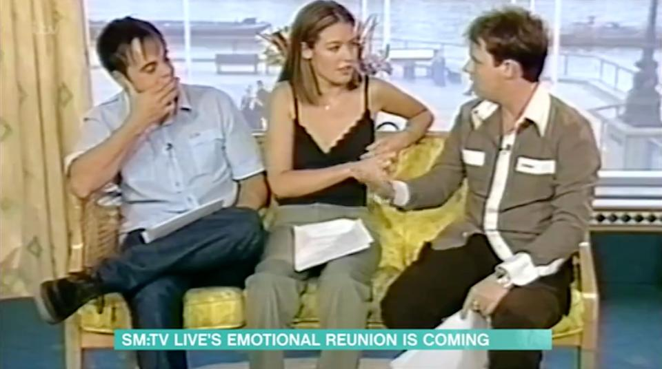 Ant, Dec and Cat during their SM:TV Live screen test in 1998 (Photo: ITV)