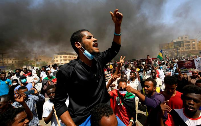 In June, tens of thousands of Sudanese took to the streets calling for reforms and demanding justice for those killed in anti-government demonstrations that ousted president Omar al-Bashir last year - AFP