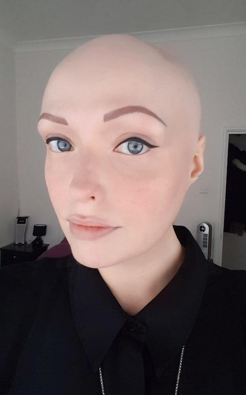 Brenda Finn, 34, a candlemaker, discovered she had alopecia universalis – a condition that results in a complete loss of hair, the causes of which are unknown – when she was 14.