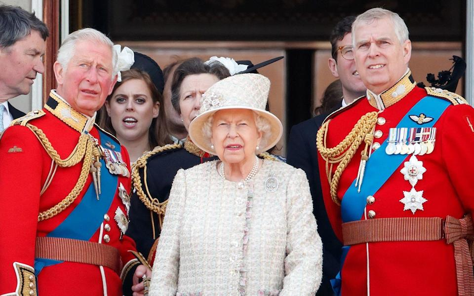 Prince Charles, Prince of Wales, Queen Elizabeth II and Prince Andrew, Duke of York - Max Mumby/Indigo/Getty Images