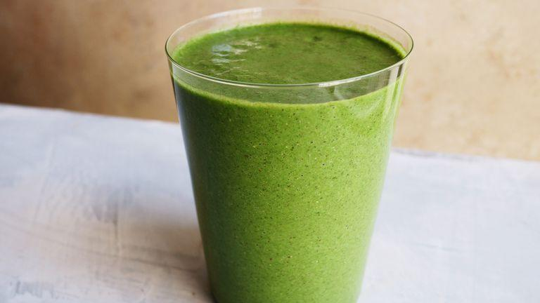 "<p>For whenever you want to blast yourself with health, chug this spinach-kale smoothie.</p><p>Get the <a href=""https://www.delish.com/uk/cooking/recipes/a29990302/best-healthy-green-smoothie-recipe/"" target=""_blank"">Healthy Green Smoothie</a> recipe. </p>"