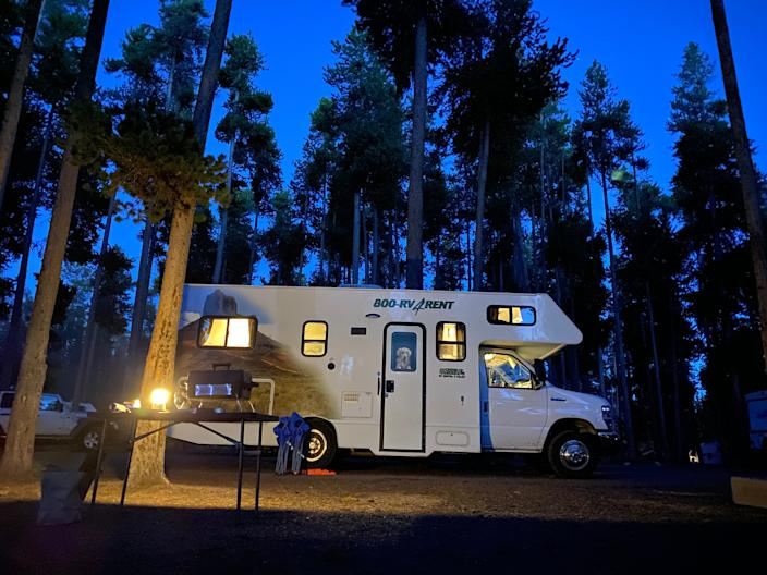 The chances are good that you can find a camping spot in Yellowstone, but you may need to keep checking the reservation site for openings.