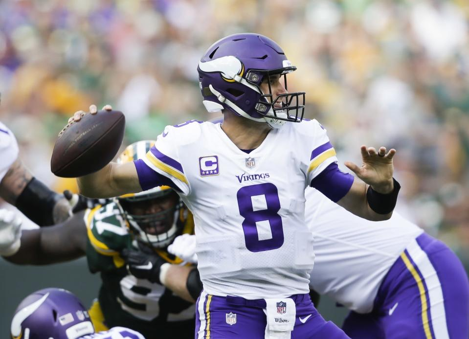 Kirk Cousins had a great game in a tie against the Packers. (AP)