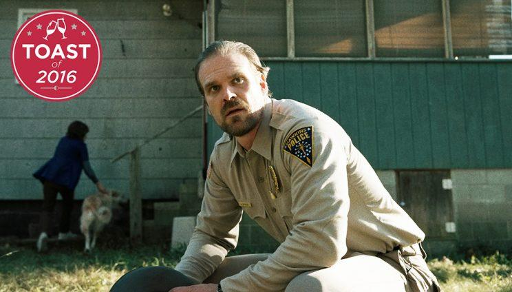 David Harbour in Stranger Things (Credit: Netflix)